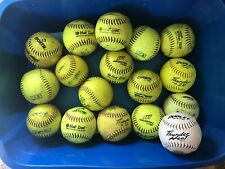 Softballs used lot of 17, 12 in & 2 11in Worth, Hot Dot, Thunder Heat, & More.