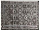 8 x 10 Gray All-Over Viscose Handmade Gray Transitional Rug