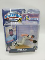 Starting Lineup 2 Derek Jeter New York Yankees 2001 Hasbro MLB SLU Figure + Card