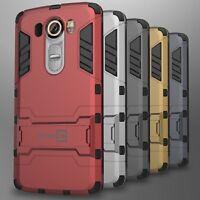 For LG V10 Case Slim Hard Kickstand Hybrid Dual Layer Protective Phone Cover