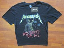 Metallica Licensed T Shirt New w/label short sleeve XL Black And Justice for All