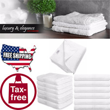 Lovely White Large Bath Towels Multipurpose VINTAGE 100% Cotton