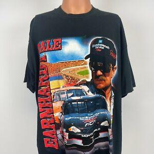 Competitors View Dale Earnhardt T Shirt Vintage 90s Nascar Black Size XL