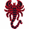 Embroidered Black Red Iron On Scorpion Patch Sew On Jacket Jeans Bag Biker Badge