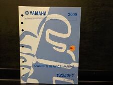 YAMAHA 2009 YZ250FY    OWNERS SERVICE MANUAL (Y207)