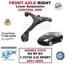 2x Lower Suspension Wishbone Bras pour HONDA CIVIC 2001-06 front 1.3 1.4 1.6 1.7