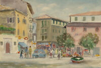 Attrib. Col. Harwood Eve - Mid 20th Century Watercolour, Spanish Piazza Scene