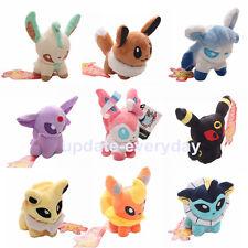 """5"""" Lot 9 x EEVEE LEAFEON GLACEON UMBREON ESPEON Sylveon Pokemon Plush Dolls toys"""