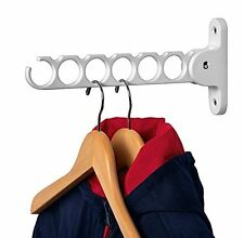 Wall Mounted Bathroom Folding Rack Cloth Hanger Holder Bedroom Cabinet Laundry