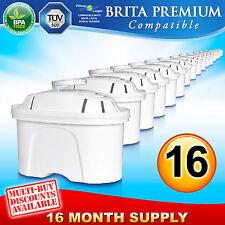 16 x Brita Maxtra Premium Compatible FL402 Replacement Water Filter Cartridge