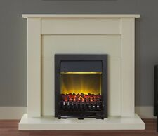 ELECTRIC CREAM SURROUND BLACK LED FLAME COAL FIRE CHEAP SMALL FIREPLACE SUITE