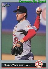 436   TODD WORRELL    ST. LOUIS CARDINALS  BASEBALL CARD LEAF 1992