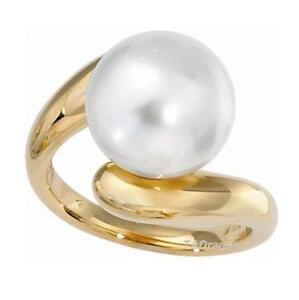 12-13mm Australian Southsea White Pearl Ring in 14K Yellow Gold or White Gold