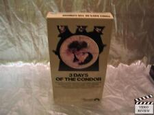 Three Days of the Condor (VHS) Robert Redford Faye Dunaway Cliff Robertson
