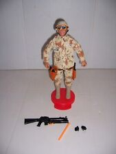 "1992 GI Joe 12"" Duke? Action Figure with Weapons, Accessories & Cobra Stand"
