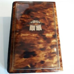19th Century French Faux Tortoiseshell Notebook/Card Case circa 1880