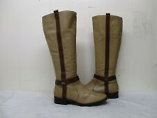 MATISSE Tan Leather Zip Knee High Boots Womens Size 6.5 M