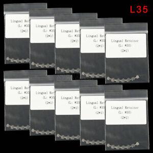 20pcs/10 bags Dental Orthodontic Bondable Lingual Retainer Mesh Base Marked L35