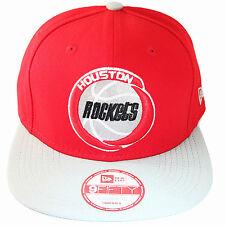 New Era NBA Houston Rockets Snapback Hat Hardwood Classic 2 Tone Red Grey Cap