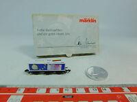AU589-0,5# Märklin mini-club Z/DC Containerwagen Weihnachten Euro/Mark, NEUW+OVP