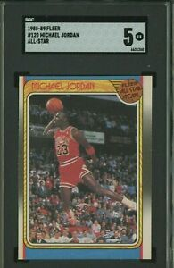 1988-89 Fleer All-Star #120 Michael Jordan Chicago Bulls HOF SGC 5 EX
