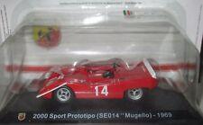 """DIE CAST """"2000 SPORT PROTOTIPO ( SE014 MUGELLO ) 1969 """" + TECA  BOX 2 SCALA 1/43"""