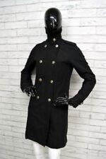 Cappotto TIMBERLAND Donna Taglia 38 Doppiopetto Woman Coat Giacca Jacket Nero