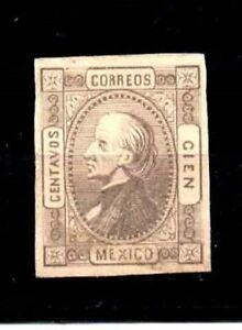 Mexico Stamps-Scott # 98/A8-100c-Mint/LH-1872-OG-IMP