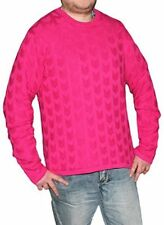 Michael Kors Men's Fuchsia Cable-Knit Cotton Pullover Sweater, Size M