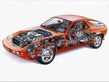 Porsche 928 1980's advert promo poster