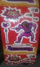 Vintage MOTU 1984 RARE Skeletor HE-MAN Master Of The Universe Stickers 2 Sheets