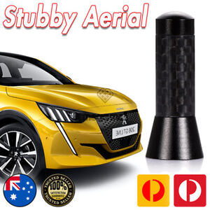 Antenna / Aerial Stubby Bee Sting for Peugeot 208 GTI Black Carbon