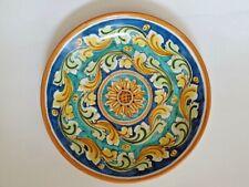 Piatto da parete centrotavola decorato a mano in ceramica di Caltagirone D.36 cm