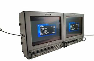 """Sony LMD-9050 Dual Monitors Portable 8.4"""" HDTV LCD Industrial Production"""