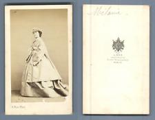 Ken, Paris, Mélanie, actrice, circa 1860 vintage CDV albumen carte de visite