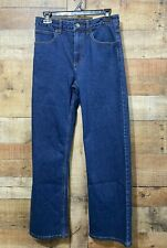 Carhartt Boys Blue Jeans Size 16 Relaxed Fit 5 Pocket Pant Adjustable Waist New