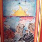 LE African Sunset Print #28/100 Signed Don Gaddis Elephant Zebra Rhino