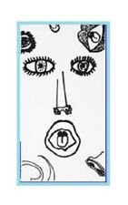 IKEA Spridd Beach Towel Bath Sheet Black&White Face Facial Feature Eye Nose Lips