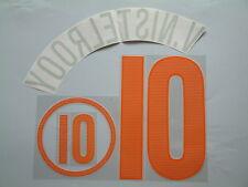 v.NISTELROOY NOME+NUMERO UFFICIALE OLANDA EURO 2004 AWAY OFFICIAL NAMESET