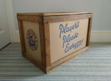 More details for vintage john player's navy cut wooden shipping crate 1955