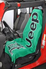 1 - Jeep Towel2Go Seat Cover -Green With Jeep Logo- Fits All Jeep Models