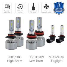 For Ram 1500 2011-2012 9005 H11 Headlight & 9145 Fog Light LED Combo 6x Bulbs