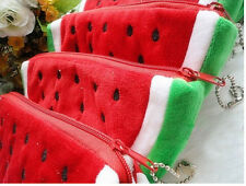 Cute Girls Little Watermelon Portable Zipper Coin Purse Wallets Case Plush Ba@eG