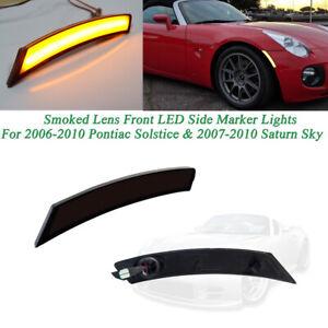 Plug & Play Amber LED Front Side Marker Lamps For Pontiac Solstice & Saturn Sky