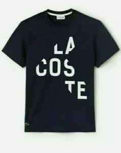 Lacoste Mens T Shirt Black XXL size