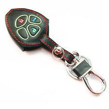 Black Genuine Leather Key Chain Cover Case Fob For Toyota RAV4 4Runner Scion