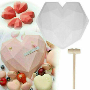 Cake Mould Heart Hamper 3D Mold Shape New Tool Silicone Chocolate Baking Large