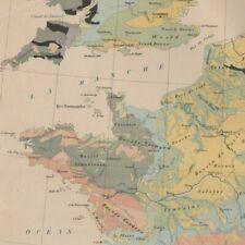 France géologique  - - Géographie - Carte ancienne 1898