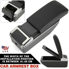 Car Central Console Armrest Storage Box Leather Black Arm Rest Universal Us Fits Mazda