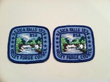 Boy Scout Valley Forge Council Resica Falls Reservation 1974 Camp Patch Set Lot